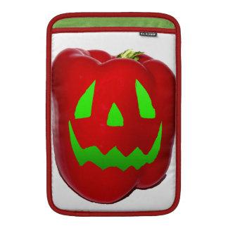 Resplandor verde Bell roja Peppolantern Funda MacBook