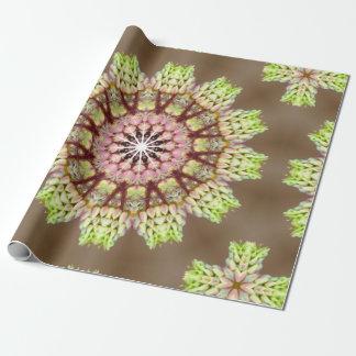 Resplandor verde clara papel de regalo