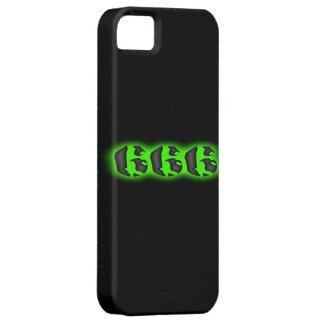 Resplandor verde misterioso Halloween del mal 666 Funda Para iPhone SE/5/5s