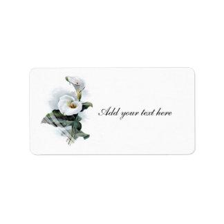 Resplandores del amor/boda blanco elegante de la c etiquetas de dirección