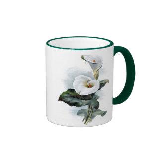 Resplandores del amor cala blanca elegante taza de café