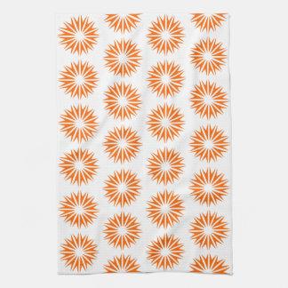 Resplandores solares modernos de la mandarina toalla de cocina