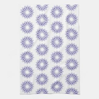 Resplandores solares modernos púrpuras toallas de cocina