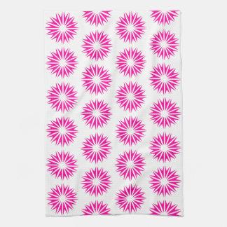 Resplandores solares modernos rosados toallas