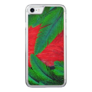 Resplendent Quetzal feather design Carved iPhone 7 Case