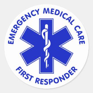 Respondedor de la asistencia médica de la pegatina redonda