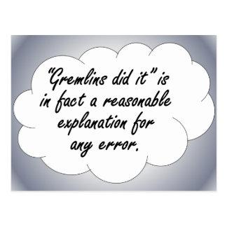 Responsabilidad: La próxima vez que ocurre un erro Postales