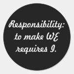 responsabilidad pegatinas