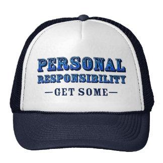 Responsabilidad personal - consiga alguno gorras