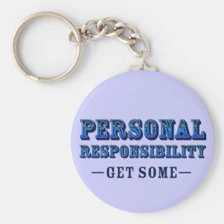 Responsabilidad personal - consiga alguno llavero personalizado