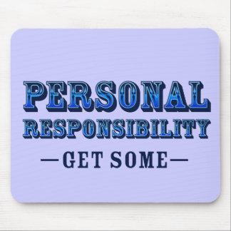 Responsabilidad personal - consiga alguno tapete de raton