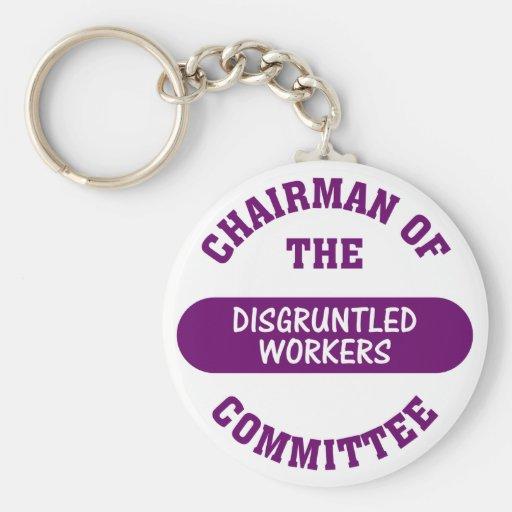 Responsable del comité contrariedad de los trabaja llaveros personalizados