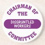 Responsable del comité contrariedad de los trabaja posavasos personalizados