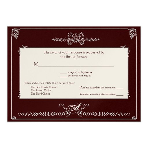 Response Card Invite