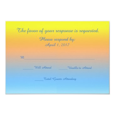 Response Card Sunset Beach Colors