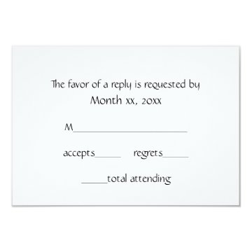 Response Cards Winter White for Weddings Custom Announcement at Zazzle
