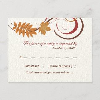 Response Postcard | Falling Leaves Theme