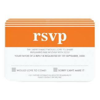RESPONSE RSVP REPLY bold simple orange Card