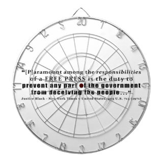 Responsibilities of a Free Press Quote Dart Board
