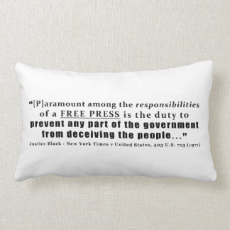 Responsibilities of a Free Press Quote Pillows