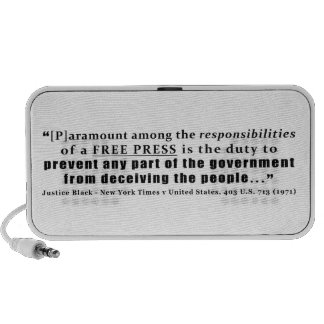 Responsibilities of a Free Press Quote Travel Speaker