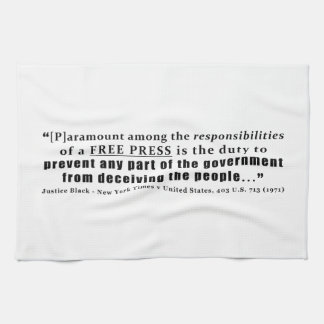 Responsibilities of a Free Press Quote Towels
