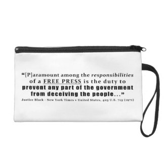 Responsibilities of a Free Press Quote Wristlet Purse