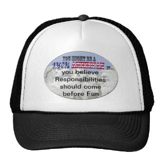 responsibility before fun trucker hat