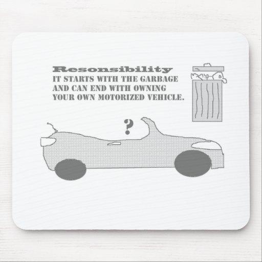 Responsibility car mousepad