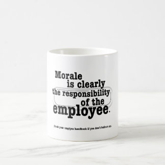 Responsibility for Morale Classic White Coffee Mug