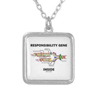 Responsibility Gene Inside DNA Genetics Humor Silver Plated Necklace
