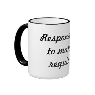 Responsibility Ringer Coffee Mug