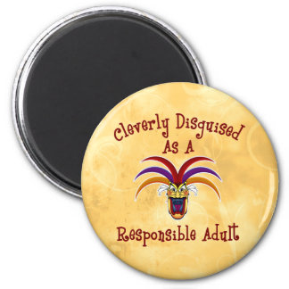 Responsible Adult 2 Inch Round Magnet