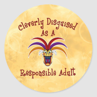 Responsible Adult Classic Round Sticker