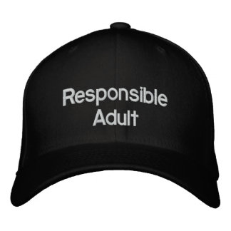 Responsible Adult Hat Embroidered Baseball Caps