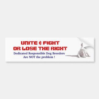 Responsible Dog Breeders Bumper Sticker