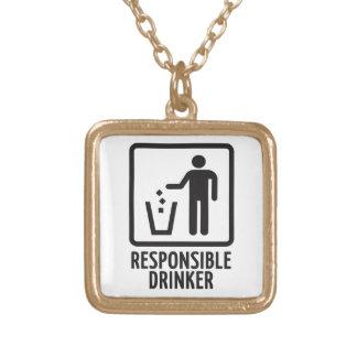 Responsible Drinker Custom Necklace