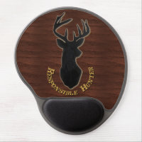 Responsible Hunter Deer Pattern Gel Mouse Pad