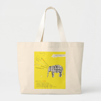Responsible Tourism Elephant Conservation Poster Jumbo Tote Bag