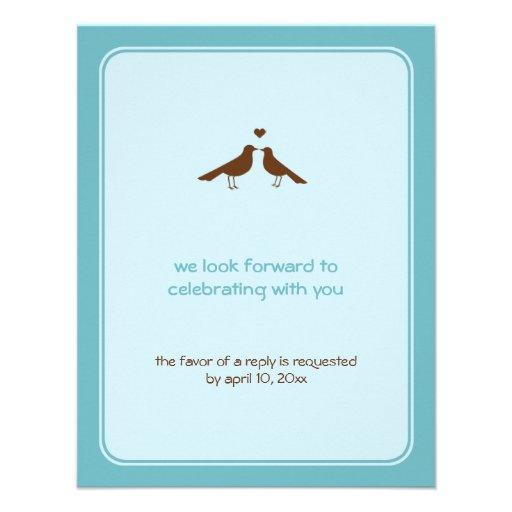 Respuesta azul del boda de los pájaros contemporán anuncios