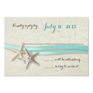 Respuesta de las estrellas de mar y de la playa de invitación 8,9 x 12,7 cm