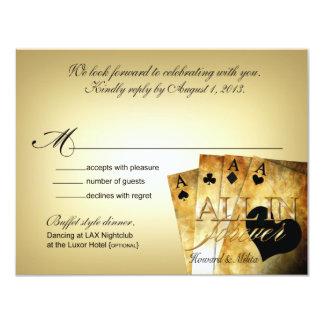 Respuesta de lujo de Howard y de Milita Las Vegas Invitación 10,8 X 13,9 Cm