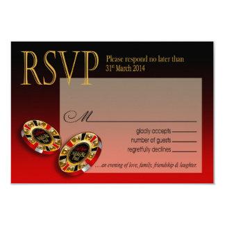Respuesta de lujo de Nikki Las Vegas RSVP Invitación 8,9 X 12,7 Cm