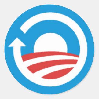Respuesta de Obama Pegatina Redonda