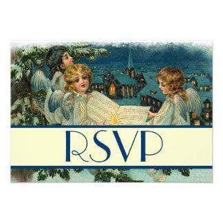 Respuesta de RSVP del día de fiesta de los ángeles Comunicado Personalizado