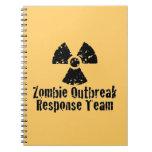 Respuesta del brote del zombi libros de apuntes