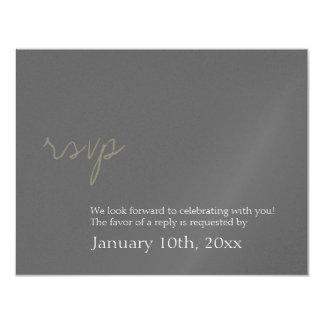 Respuesta elegante simple del rsvp del boda del invitación 10,8 x 13,9 cm