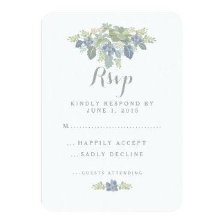 Respuesta floral de RSVP del ramo que se casa Invitación 8,9 X 12,7 Cm