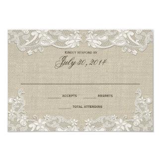 """Respuesta floral del boda del diseño del cordón invitación 3.5"""" x 5"""""""
