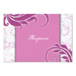 Respuesta floral elegante blanca rosada RSVP del Invitaciones Personales